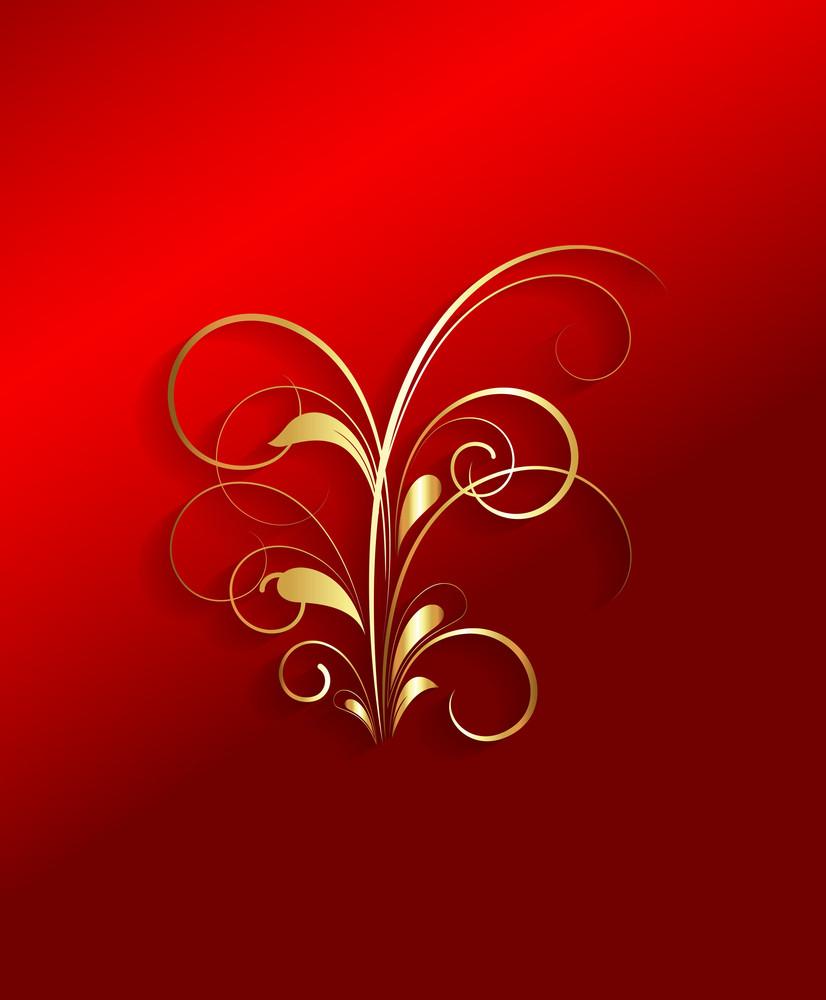Golden Flora Art Design