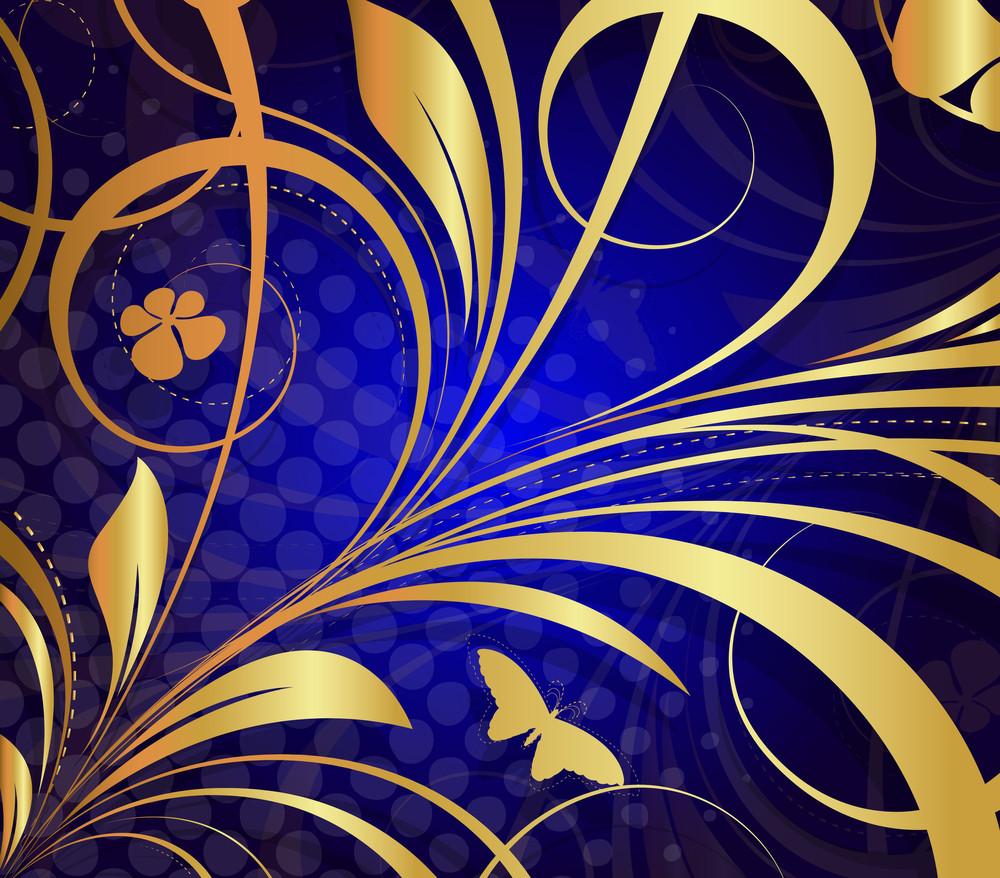 Golden Flora Design Art