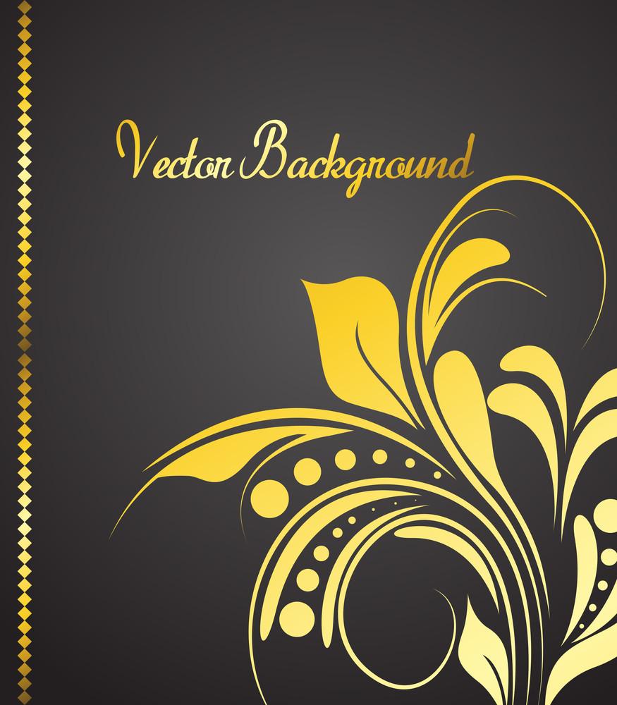 Golden Floral Backdrop