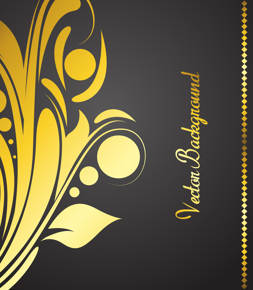 Golden Floral Banner Design