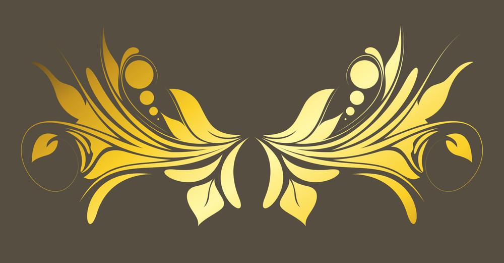 Golden Floral Divider