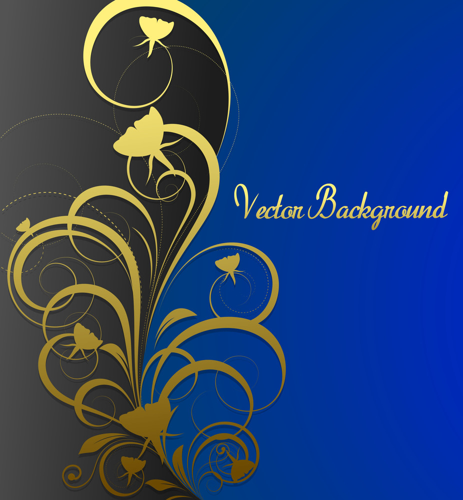 Golden Floral Greeting Template
