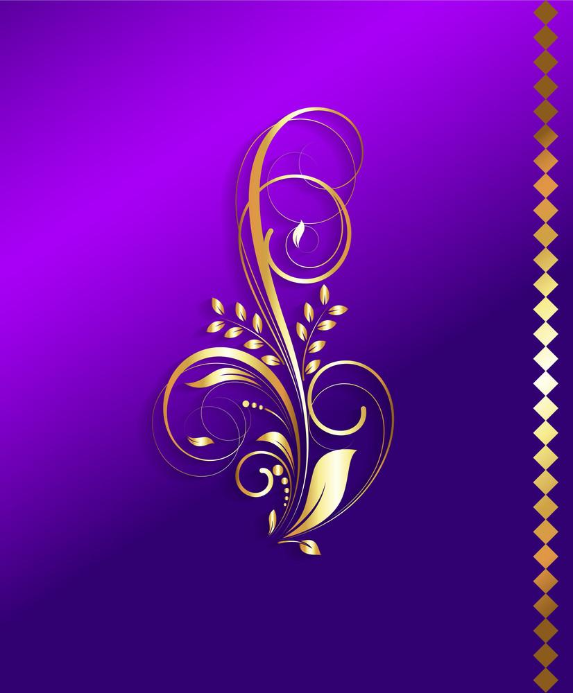 Golden Flourish Background