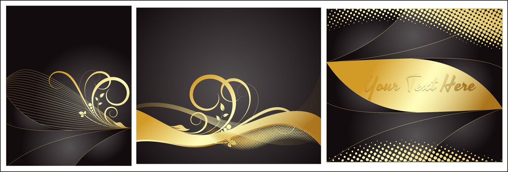Golden Flourish Backgrounds