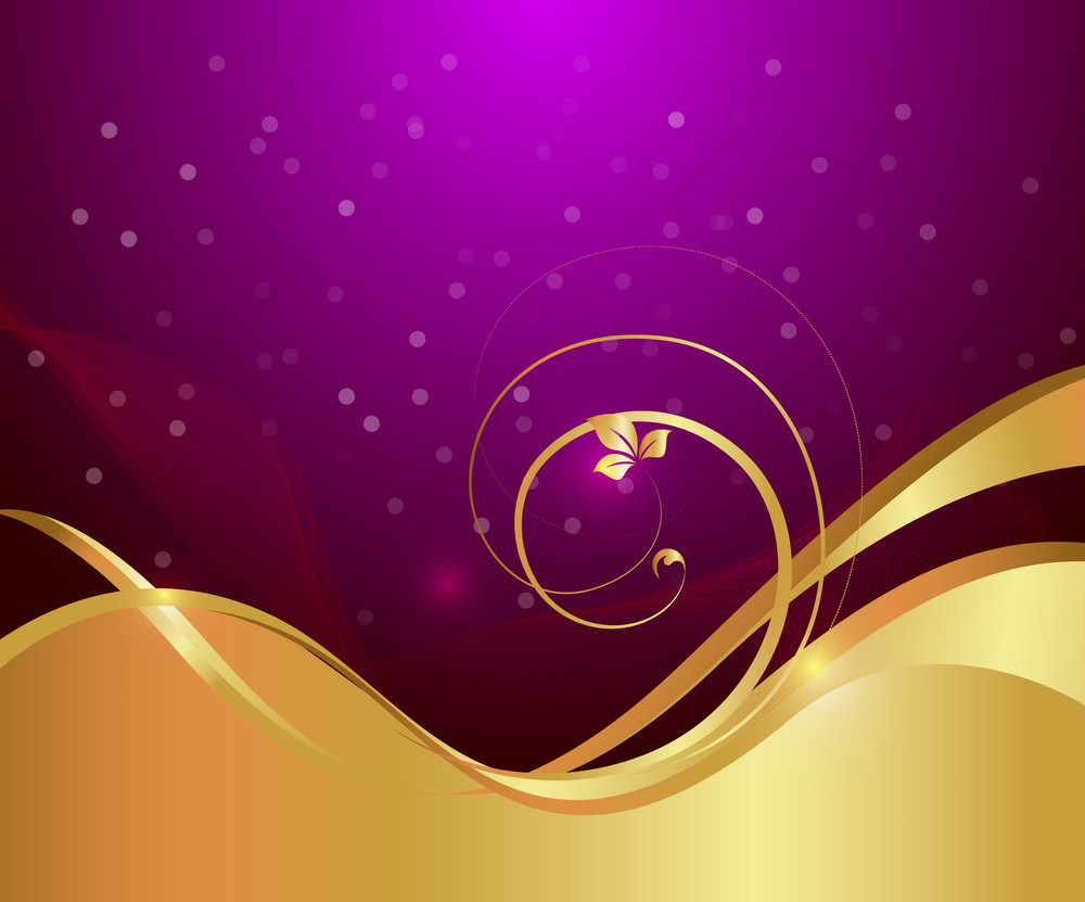 Golden Flourish Bokeh Graphic