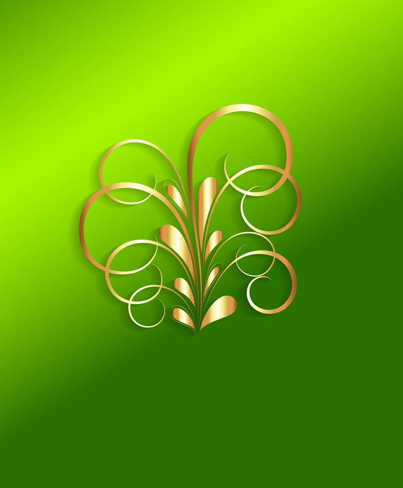 Golden Flourish Christmas Design