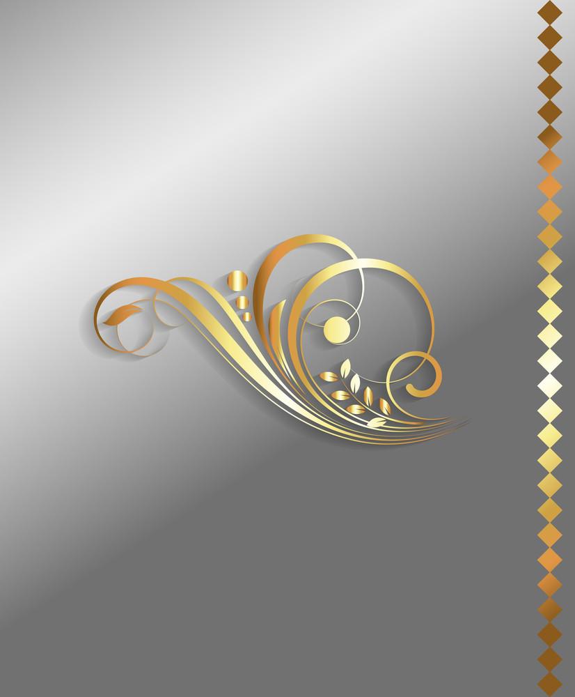 Golden Flourish Decorative Elements