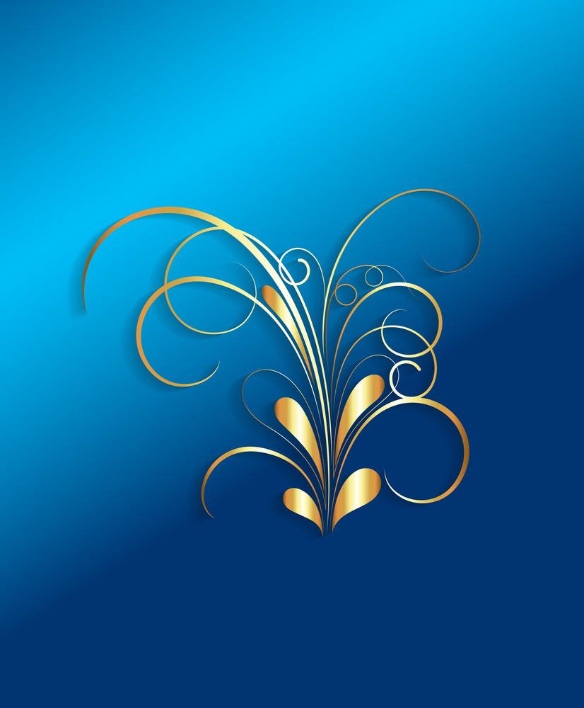 Golden Flourish Design Element