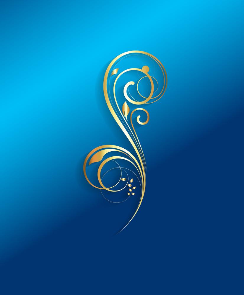 Golden Flourish Element Design