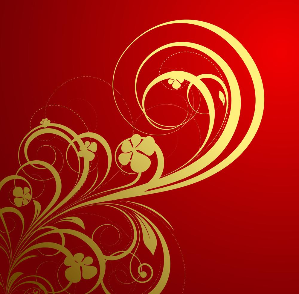 Golden Flourish Festive Background