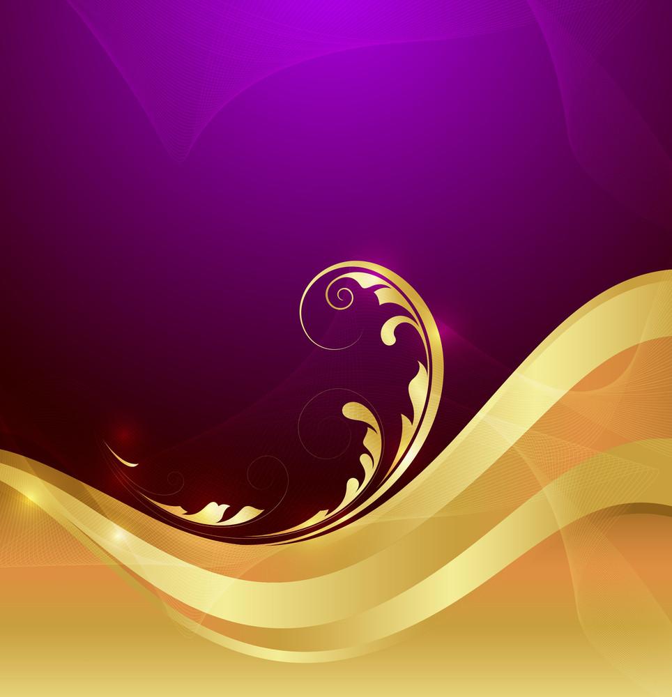 Golden Flourish Graphic