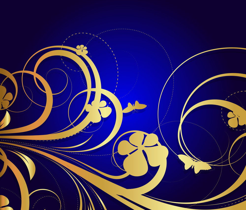 Golden Flourish Pattern Design