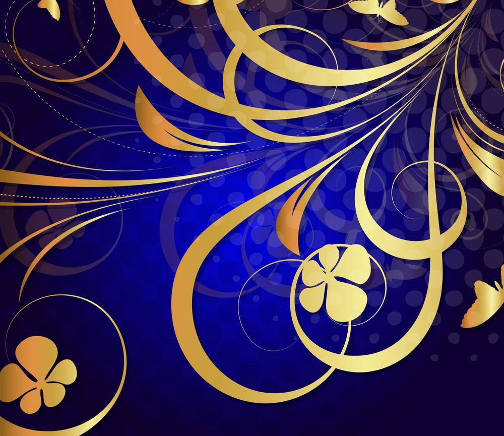Golden Flourish Pattern Design