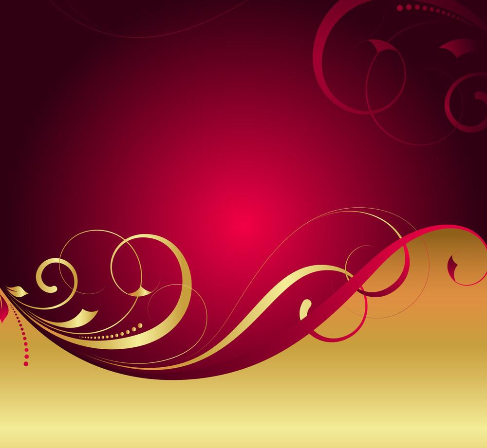 Golden Flourish Xmas Background