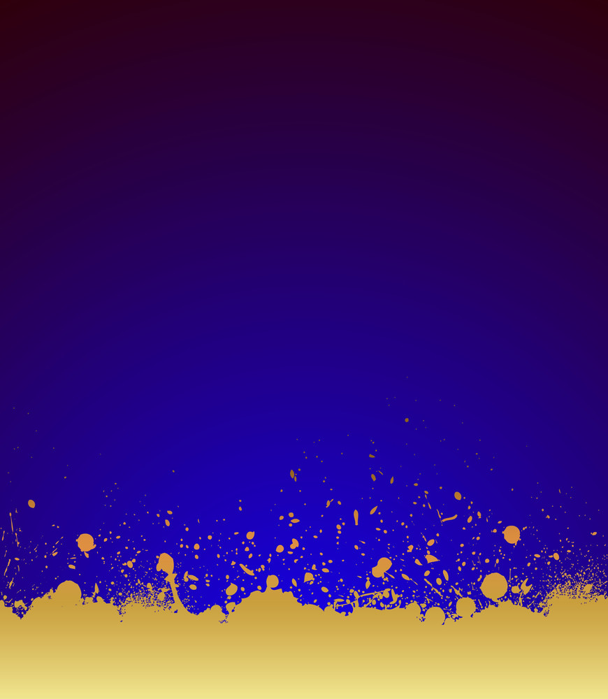 Golden Grunge Paint Background