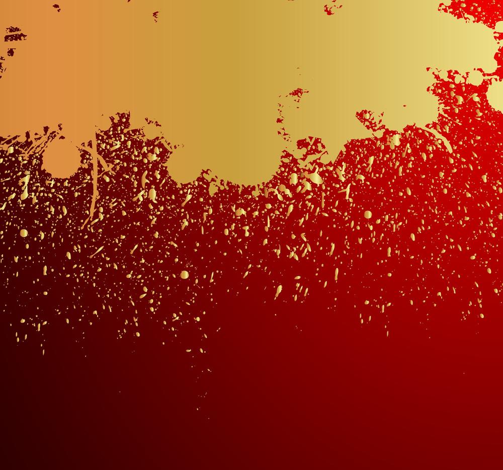 Golden Grunge Paint Drops