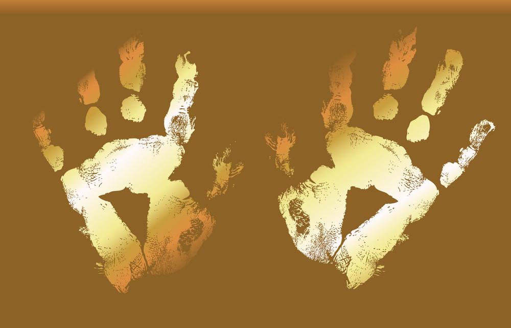 Golden Hand Prints