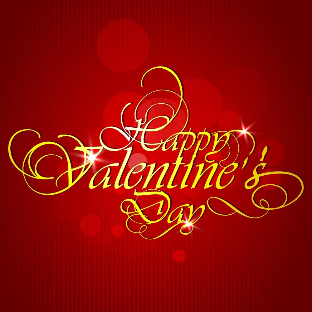 Golden Happy Valentines Day