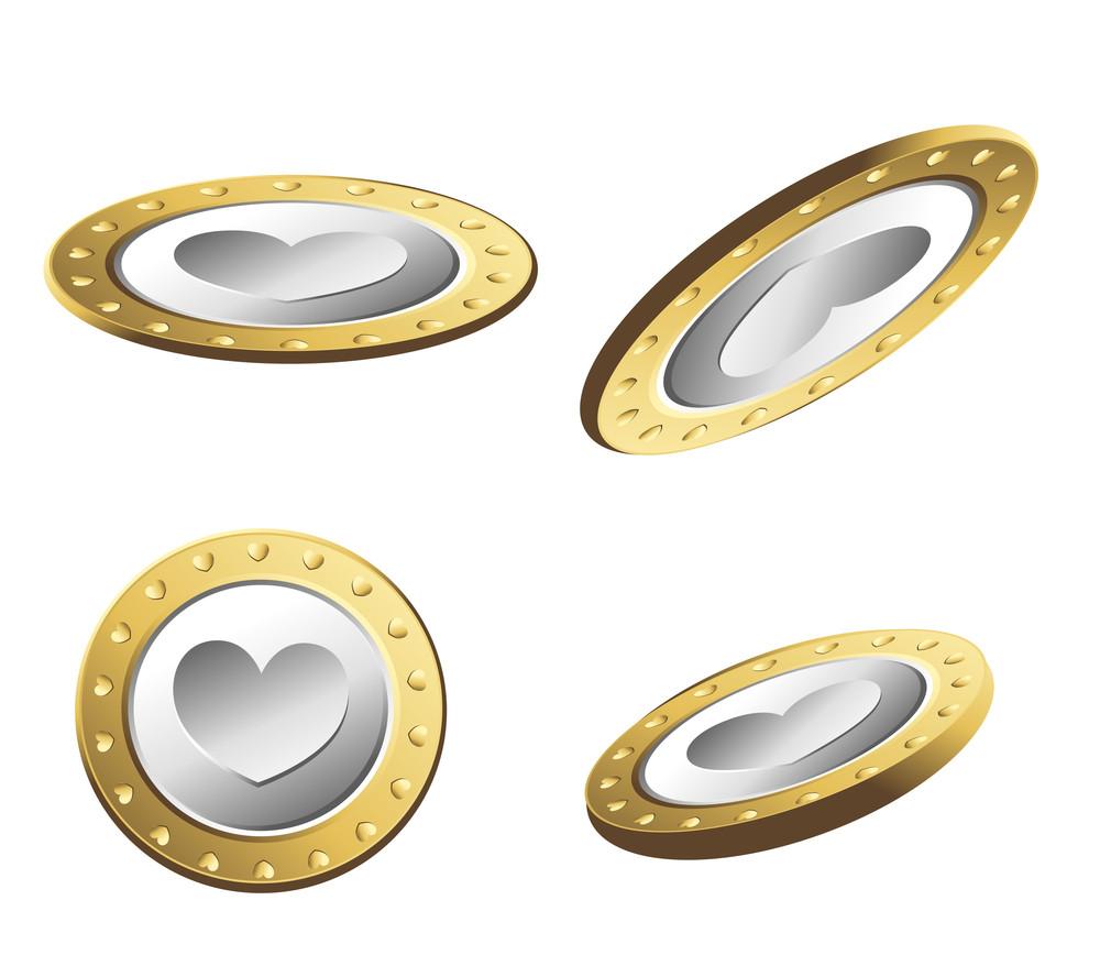 Golden Heart Coins