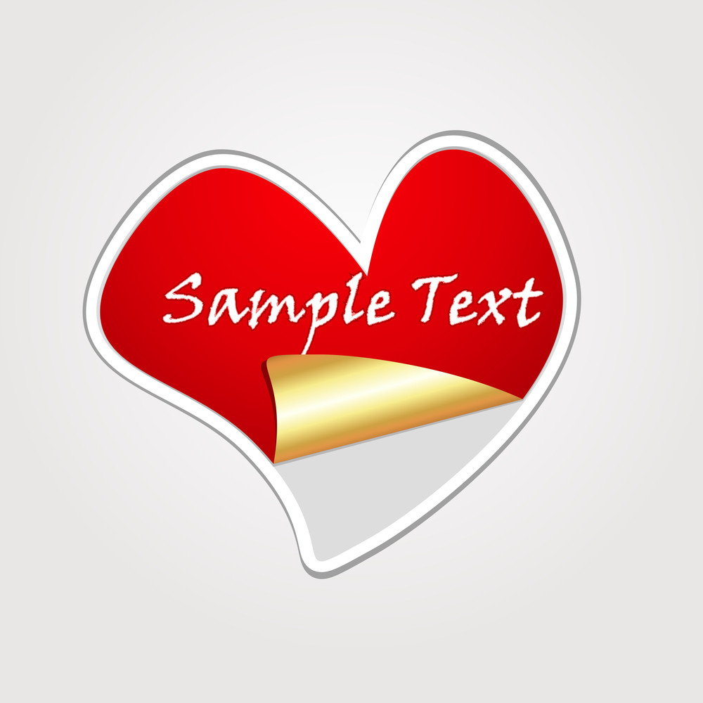 Golden Heart Sticker