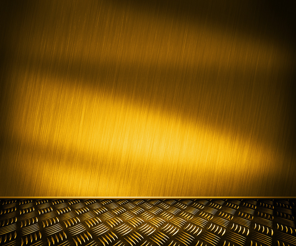 Golden Metal Room Background