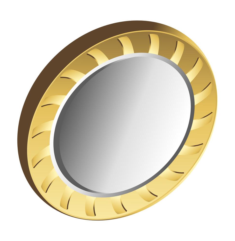 Golden Metallic Coin Vector