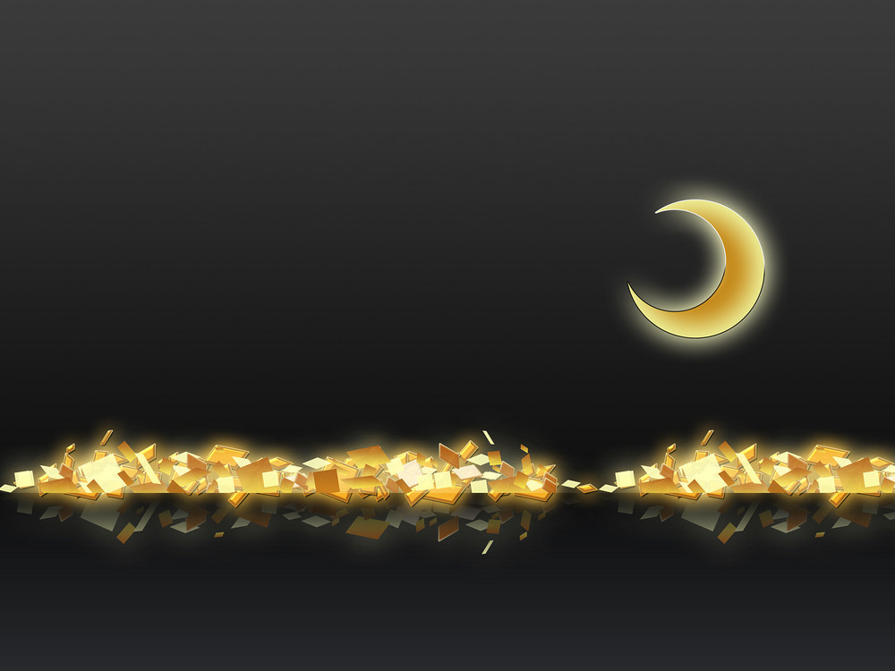 Golden Moon Abstract Background