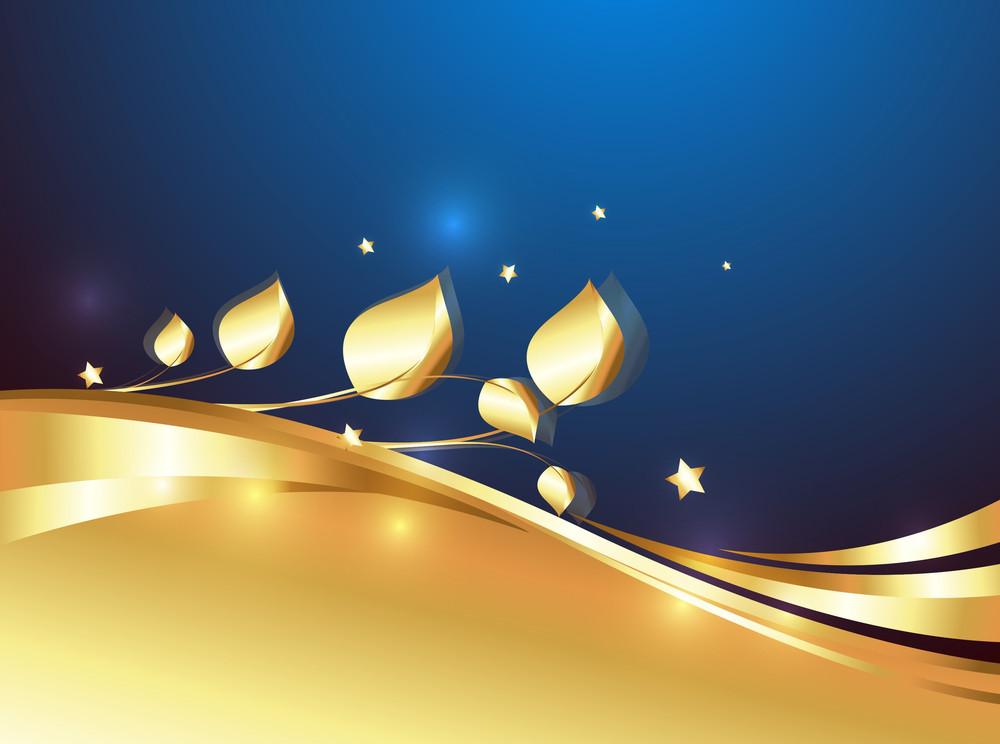 Golden Ornamental Floral