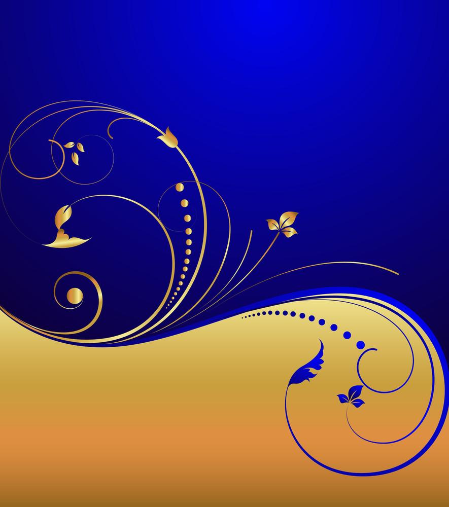 Golden Ornate Flourish Background