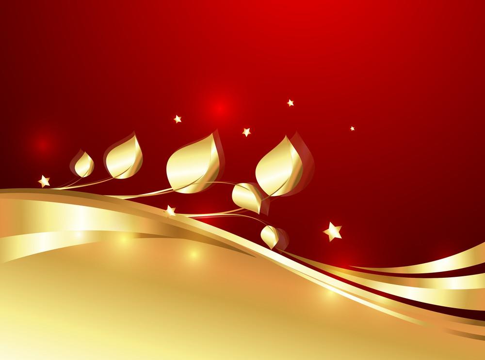 Golden Ornate Flourish Sparkles Backdrop