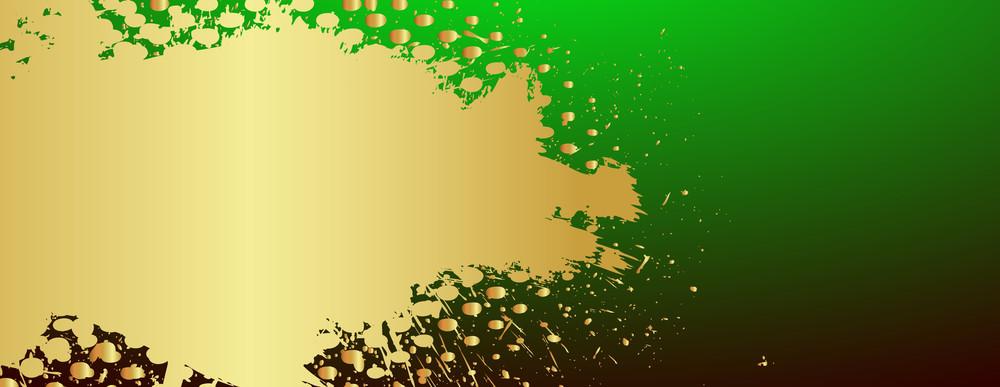Golden Paint Scatter Backdrop