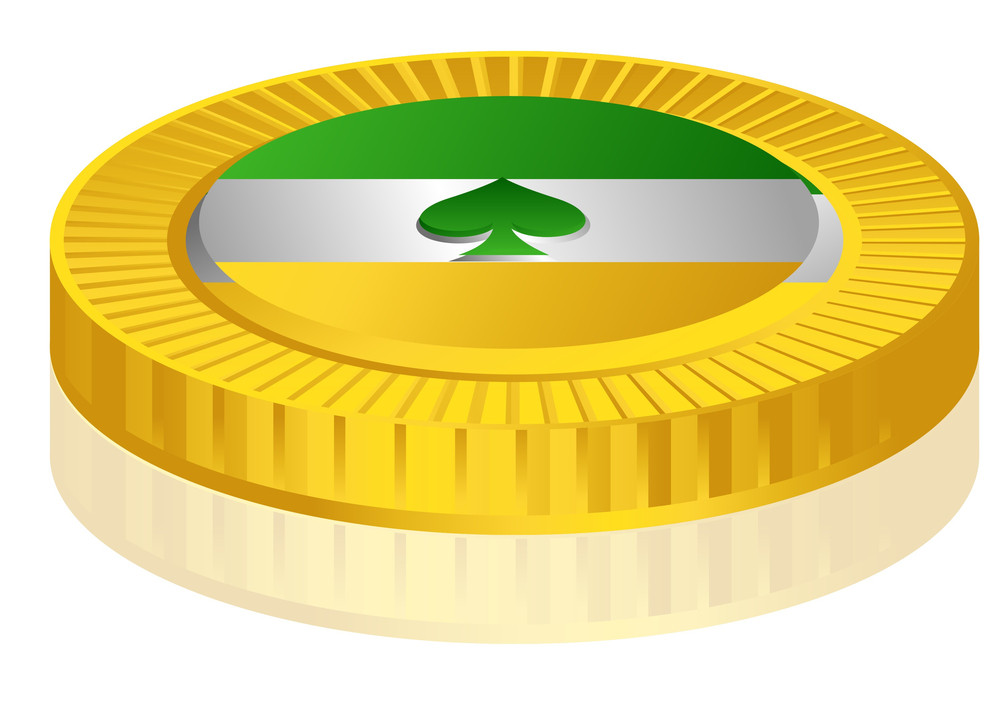 Golden Patrick's Day Flag Coin