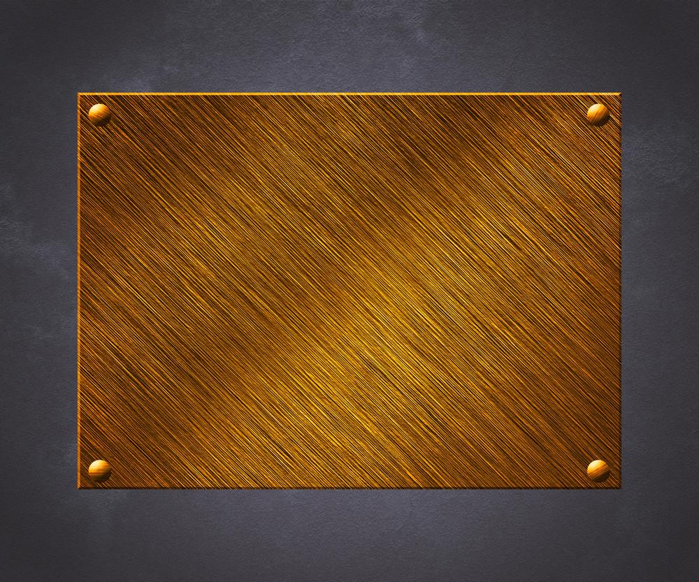 Golden Plate Background