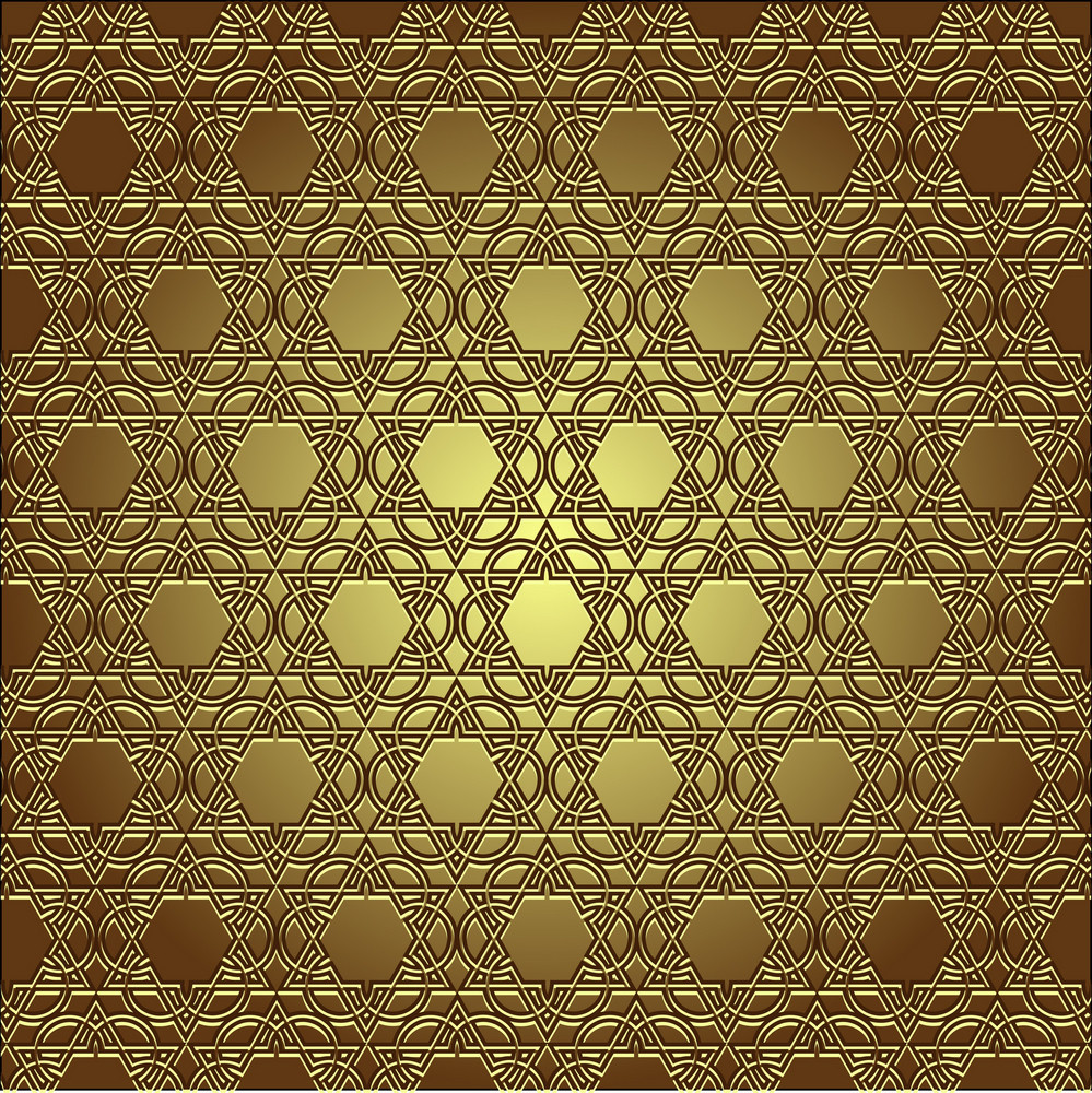 Golden Seamless Eastern Ornament