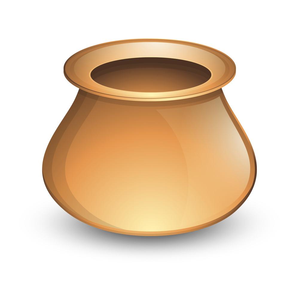Golden Shiny Cauldron Vector