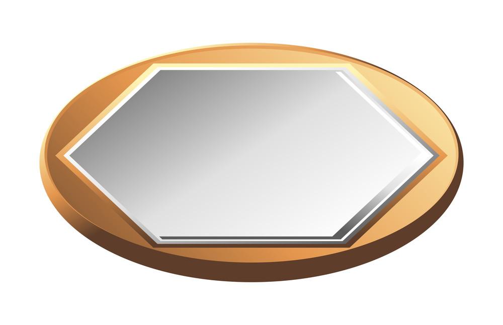 Golden Silver Coin Vector Element