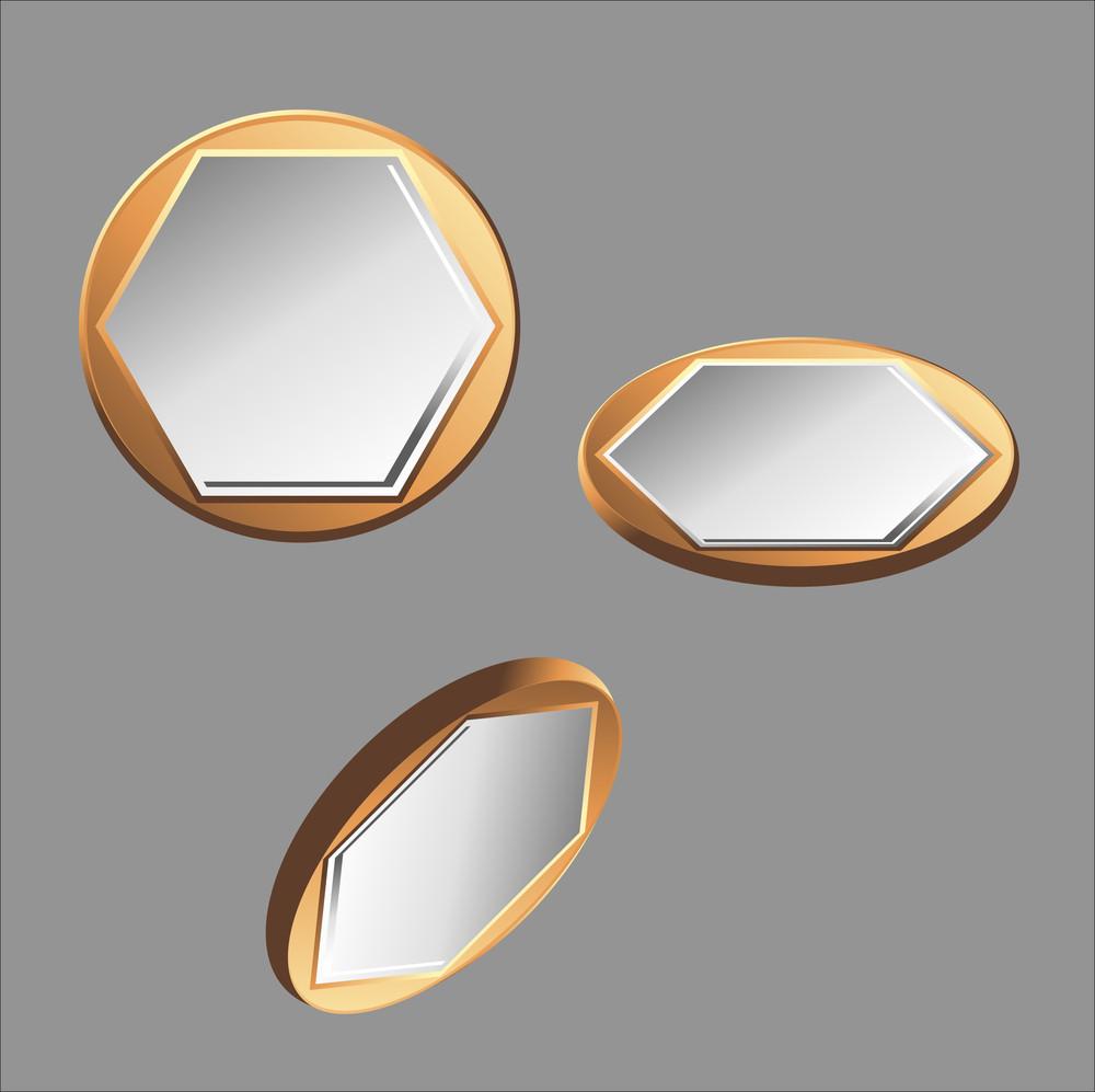 Golden Silver Coins Vector