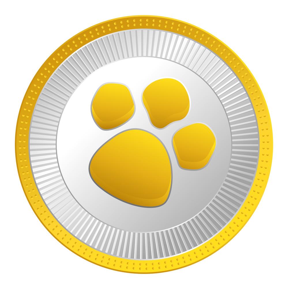 Golden Silver Paw Coin
