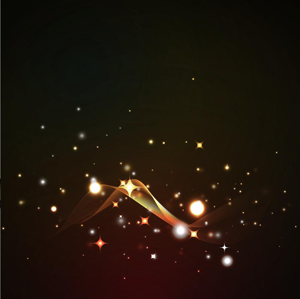 Golden Sparkle Wavy Background