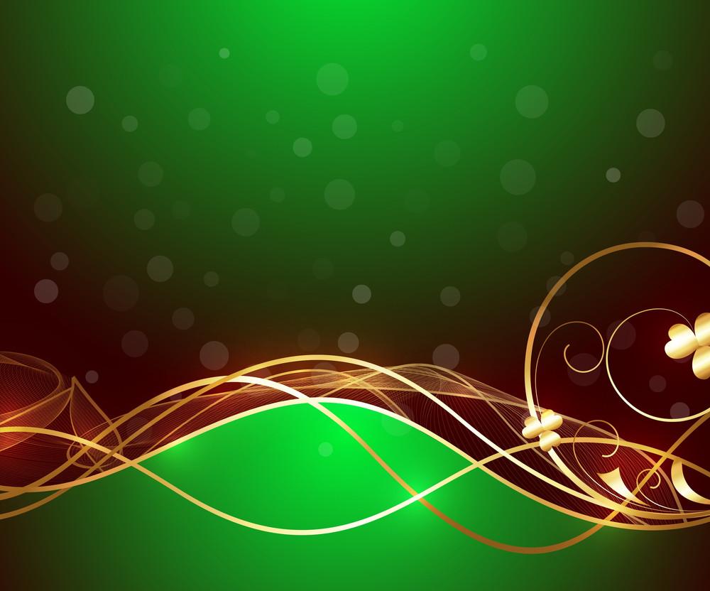 Golden Sparkles Flourish Background