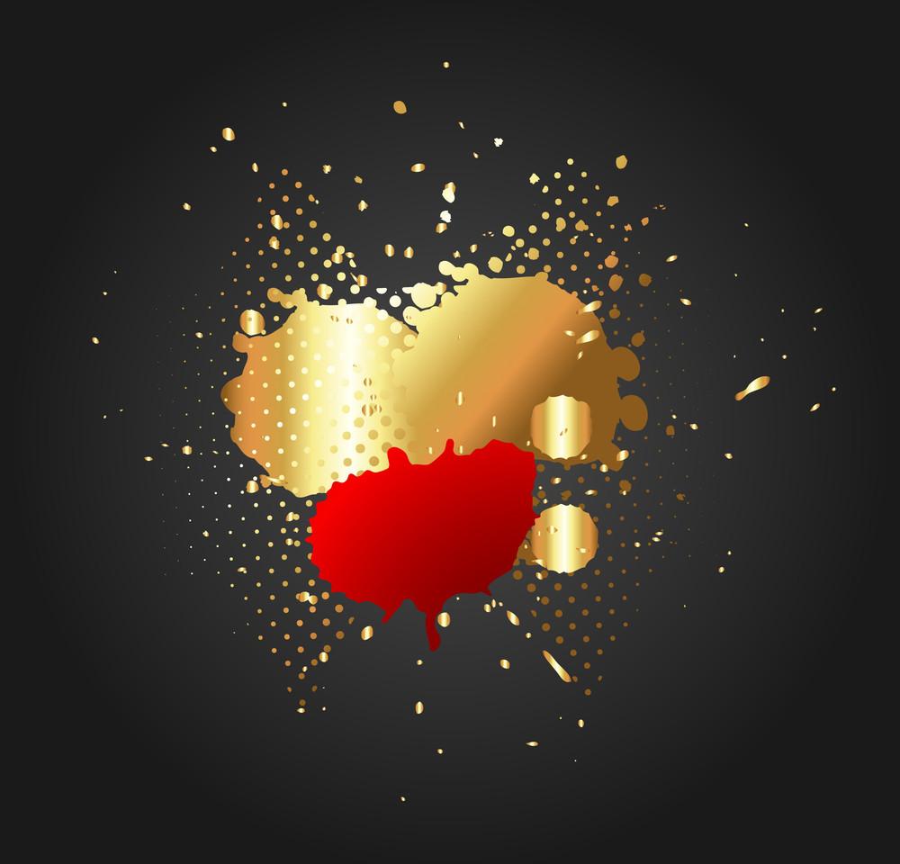 Golden Splash Abstract Background