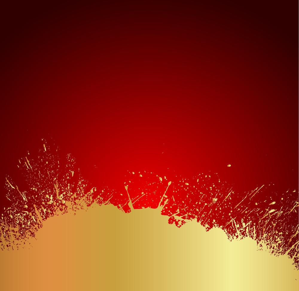 Golden Splash Backdrop