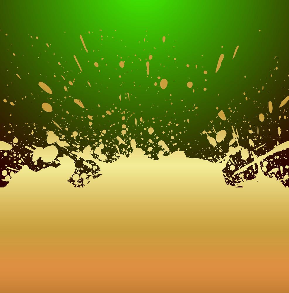 Golden Splash Background