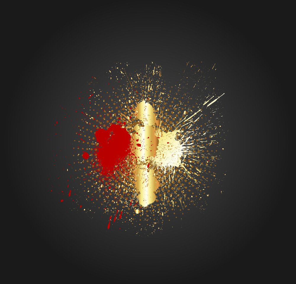 Golden Splash Vector Background