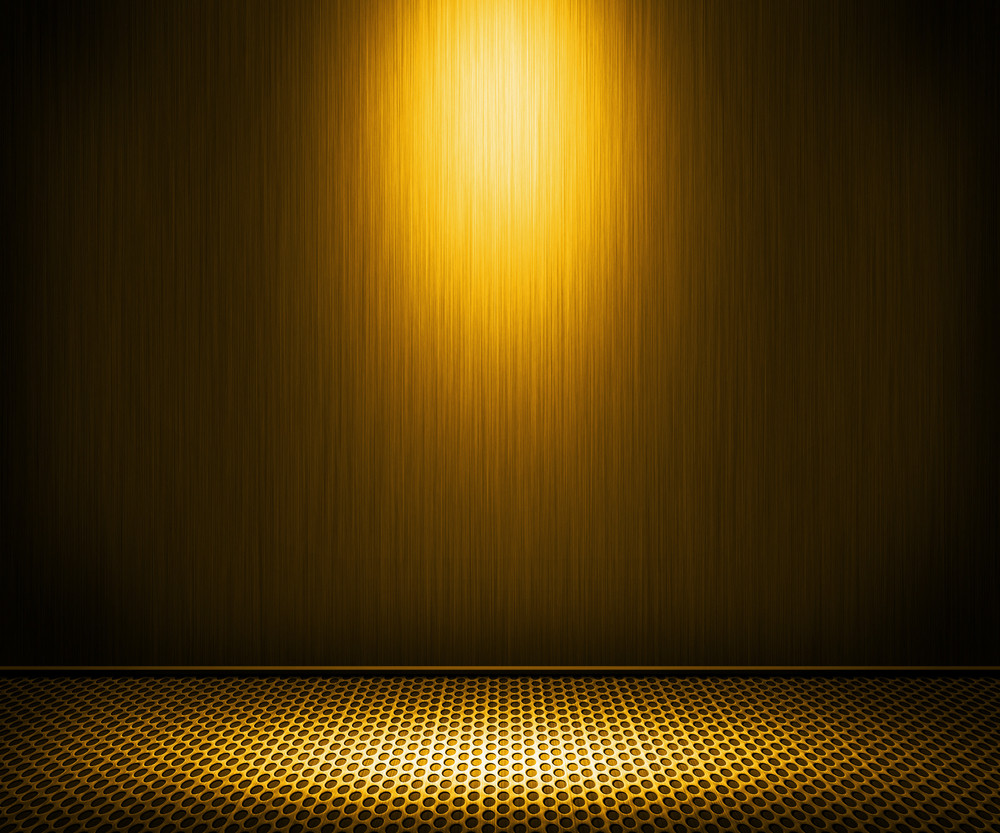 Golden Spotlight Metal Interior Background