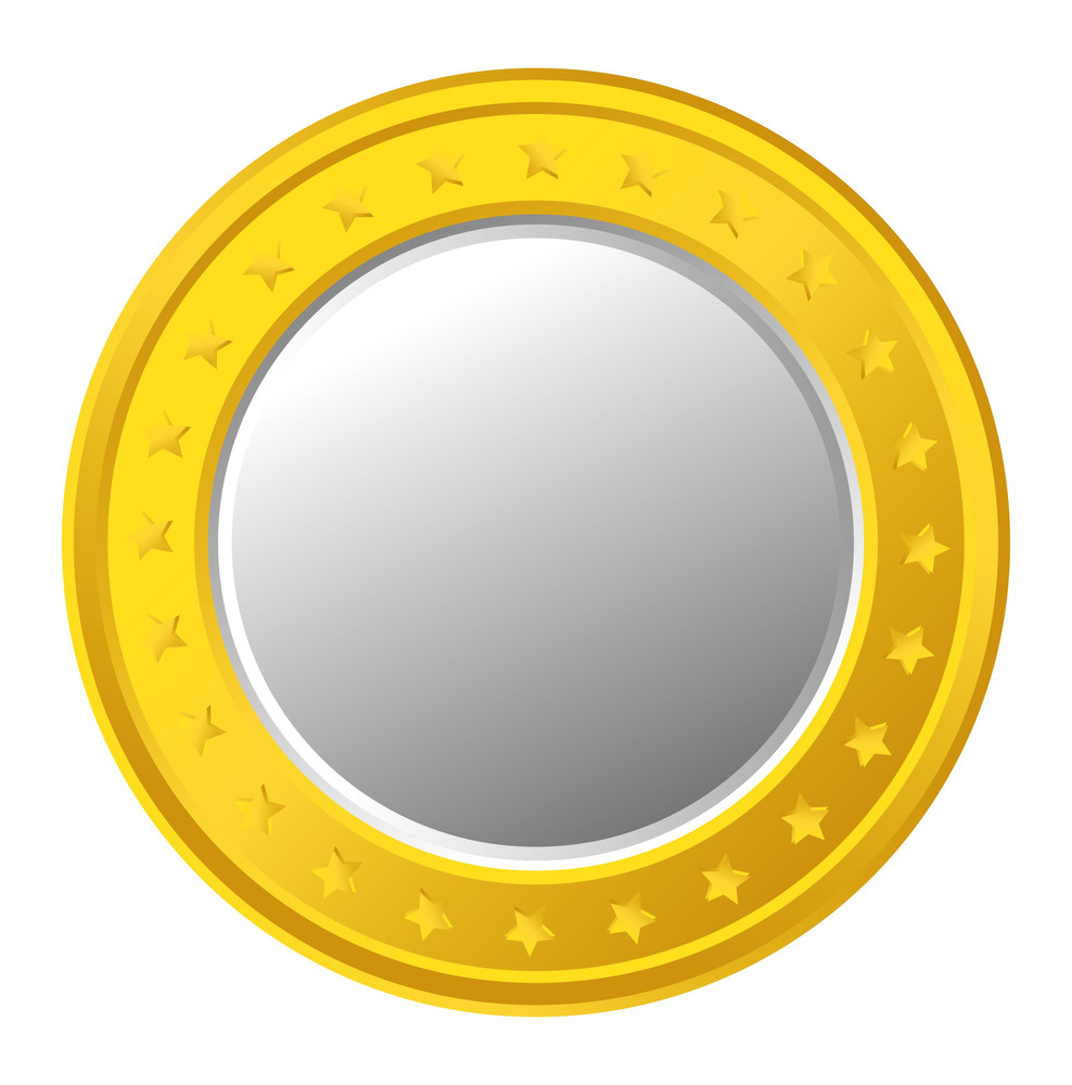 Golden Stars Coin Vector