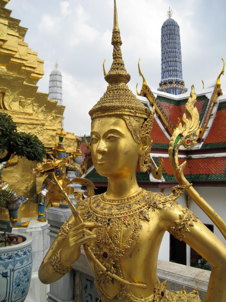 Golden Statue In Wat Phra Kaeo