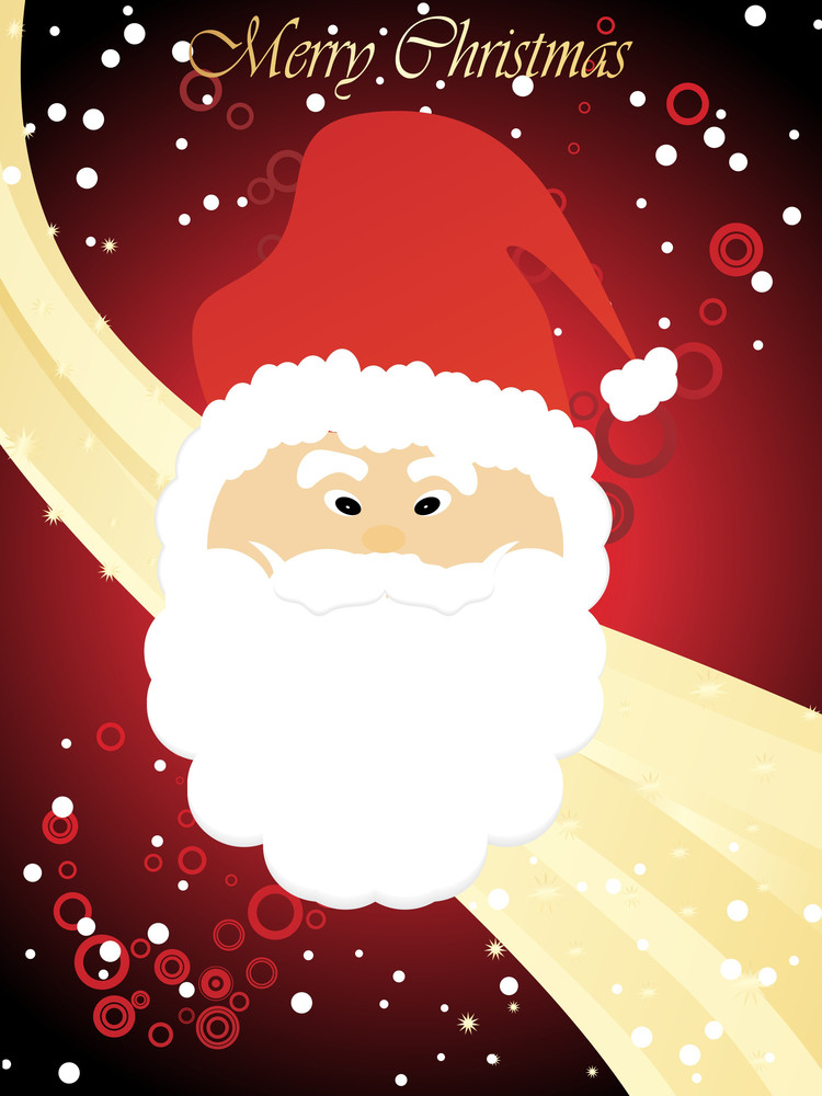 Golden Stripes Background With Santa Face