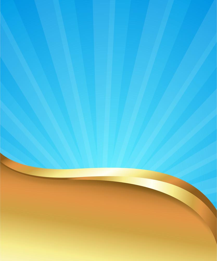 Golden Sunburst Template