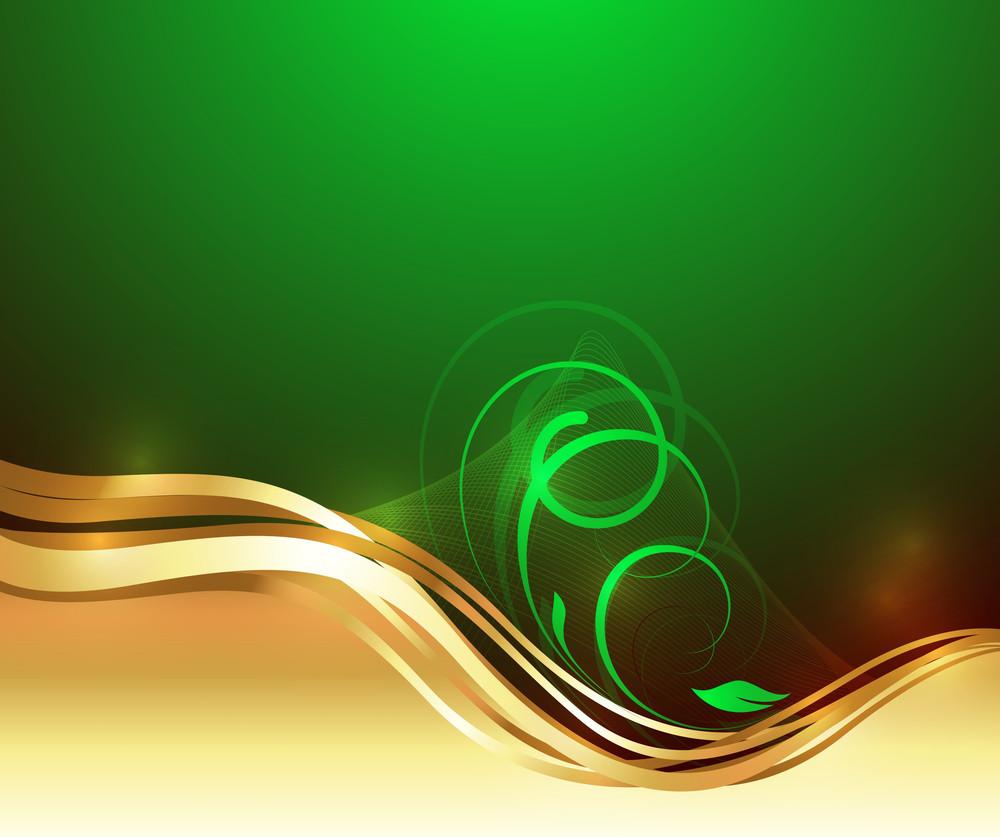 Golden Swirl Design Vector Graphic